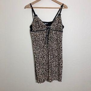 Leopard Print Pajama Dress